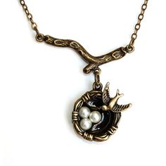Mama Bird Necklace now featured on Fab.