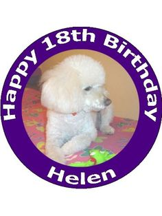 75 Poodle Dog Edible Image Cake Toppers Personalized and Decorated on Wafer Rice Paper  Please use the Contact Seller link to send us your personalized message for your topper *** Want additional info? Click on the image.