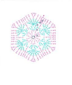 Crochet with Rickyの画像 Crochet Diagram, Crochet Chart, Knit Or Crochet, Crochet Motif, Crochet African Flowers, Crochet Flowers, Knitting Patterns, Crochet Patterns, Crochet Flower Tutorial