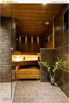 Sauna for our dream home. but I generally love sauna! Dream Home Design, Home Interior Design, My Dream Home, House Design, Saunas, Sauna Design, Home Goods Decor, Home Decor, Sauna Room