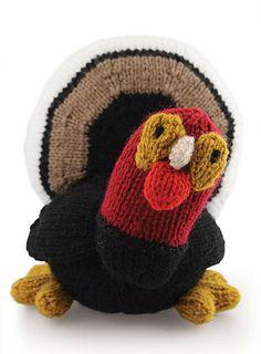 Free Knitting Pattern—Turkey Plushie