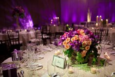 Purple #wedding decorations at Park Hyatt Beaver Creek