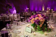 Purple #wedding decorations at Park Hyatt Beaver Creek