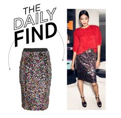 """""""The Daily Find: H&M Sequined Skirt"""" by polyvore-editorial ❤ liked on Polyvore"""