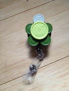 Turtle ID Badge Holder With Retractable Reel - Made From Vial Flip Off Caps via Etsy