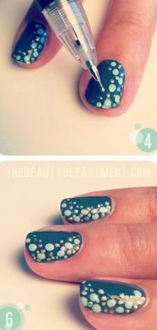 Fizzy Fun Nails - Want to do it yourself? Click on the image for the tutorial!