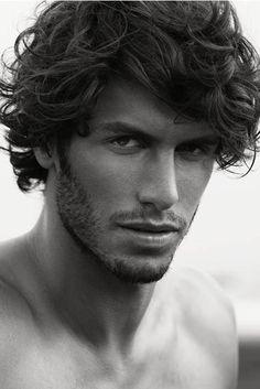 Elias Chigros, Australian model. Now that's a fine head of hair.