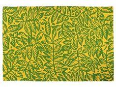 Tappeto a fiori rettangolare LEAFY - The Rug Republic