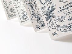 Close up of Letterpress Postcards for OTNA by Oddds