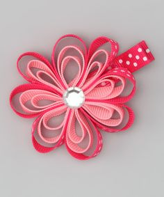 Hot Pink Rhinestone Flower Clip   Daily deals for moms, babies and kids