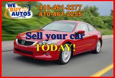 For whatever reason, you've decided that it's time to sell your car…. Call We Buy Autos today! Contact Us: (410) 461-2277 (Ellicott City) (410) 461-2255 (White Marsh) (877) 582-2777 Toll Free Or Visit http://webuyautos.org/