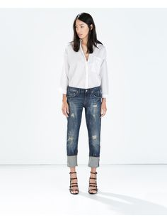 Zara - Boyfriend jeans with turn up