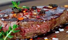 Tuesday is steak evening at the Woodman Inn. You can't beat sitting down enjoying a delicious steak. Buy one and the second is half price    Good Steak Recipes, Beef Recipes, Cooking Recipes, Healthy Recipes, Steak Marinade Best, Best Steak, French Dishes, Beef Tenderloin, Grass Fed Beef