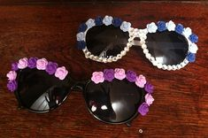 How to make Flower Sunglasses.  This is a DIY EDC Outfit Tutorial presented by FancyMade.com and HowToEDC.com