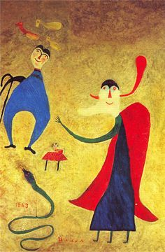 Ilija Bašičević Bosilj (1895–1972) Fate (Schicksal) 1969 (Vielleicht die Thematik Adam und Eva mit der Schlange.)