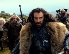 Thorin while running from Azog's Orks.