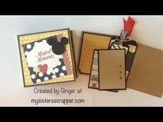 Say Cheese Mini Album - square envelope pages - by Ginger Ropp, My Sisters Scrapper