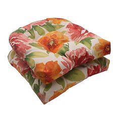 Outdoor Seat Cushions Orange