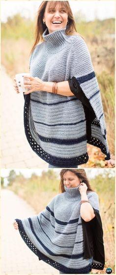 CrochetMontana Poncho Free Pattern - Crochet Women Capes & Poncho Patterns