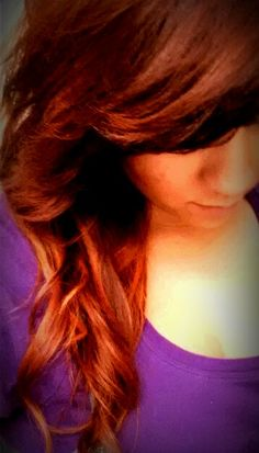 Red ombre hair color...perfection...love <3
