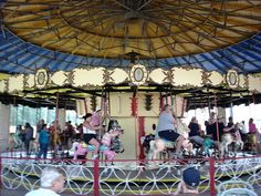 The famous Merry-Go-Round at Camden Park, West Virginia's only amusement park—over 100 years old