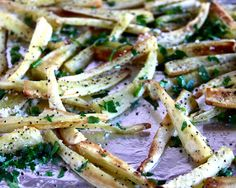 Climbing Grier Mountain » foodie fridays: parmesan parnsnip fries