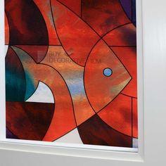 Fish Stained Glass Privacy Window Film 36(w) X2ft(l) by Buydecorativefilm, http://www.amazon.com/dp/B00CPC8E72/ref=cm_sw_r_pi_dp_Ov7Prb1G0674J