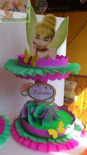 DECORACIONES INFANTILES: octubre 2012 Tinkerbell Fairies, Tinkerbell Party, Cake Holder, Strawberry Tea, Crafts For Kids, Diy Crafts, Princess Theme, Ideas Para Fiestas, Deco Table