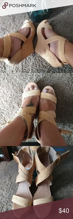 🎉Steve Madden Sexy Wedges🎉 Sexy Espadrille Wedges New without tags 8.5 Haywire wedges Steve Madden Shoes Wedges