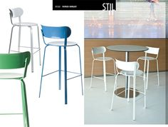 Taburete Stil de Lapalma.  Diseño: Patrick Norguet.  Muebles de diseño.