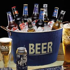 Lock In Large Tin Beer Pail & Cooler #CrowCanyonHome superbowl party in # bensonbasin