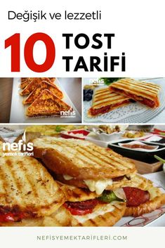 10 Değişik Tost Tarifi – Nefis Yemek Tarifleri – Salata meze kanepe tarifleri – The Most Practical and Easy Recipes Yummy Recipes, Lunch Recipes, Gourmet Recipes, Cooking Recipes, Yummy Food, Vegetarian Breakfast Recipes, Breakfast Items, Iftar, Turkish Recipes