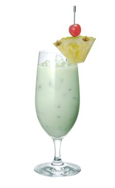 Midori Colada  2oz MIDORI  1oz Bacardi Rum  2oz Coco Lopez Cream of Coconut  4oz Pineapple Juice  ½ oz Lemon Juice  Blend ingredients with crushed ice, and pour into a glass.  Tip – Try serving frozen in an ice cream cone as a stylish dessert!