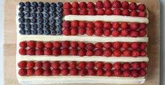 July 4th Flag Cake | KitchenDaily.com