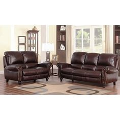 Shop for ABBYSON LIVING Madison Premium Grade Leather Pushback Reclining Sofa and Loveseat. Get free shipping at Overstock.com - Your Online Furniture Outlet Store! Get 5% in rewards with Club O!