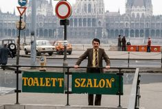 Owner of first private public toilets, Budapest 1985, Hungary CITIES