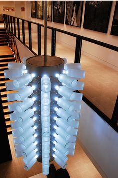 Absolut Spirits: Bottle fixture designed by Hillman Dibernardo Leiter Castelli (HDLC) Architectural Lighting Design