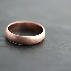 Mens Rose Gold Wedding Band 5mm Brushed Half Round by TheSlyFox, $730.00 Wish Marco would wear this