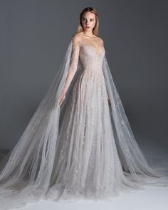 Flâner — lacetulle: Paolo Sebastian Dream Wedding Dresses, Bridal Dresses, Wedding Gowns, Prom Dresses, Formal Dresses, Wedding Dress Cape, Paolo Sebastian Bridal, Fantasy Gowns, Tulle Gown