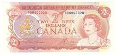$ 1 billet canadien / Canadian $1 Bill (1/2) Canadian Dollar, Canada, Notes, Stamps, Memories, Vintage, Banknote, Seals, Memoirs