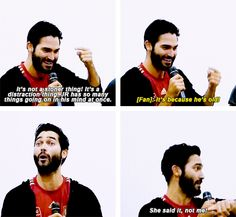 JR Bourne: [Your impression of me] makes me sound like such a stoner.