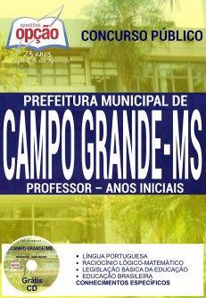 Nova -  Apostila Concurso Prefeitura Campo Grande MS - Professor  #apostilas