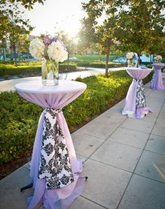 I like the patterned tie instead of just a regular tie. Cocktail Table Decor, Cocktail Tables, Wedding Favours, Wedding Reception, Tall Table, Cute Crafts, Table Covers, Parisian Style, Coffee Break