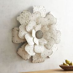 Inspired By Flower Petals The Layered Look Of Our Iron Piece Is Sure To Add Dimension Your Walls For A Touch Charm It S Painted An Antiqued White