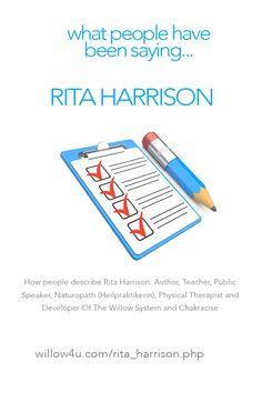 How people describe Rita Harrison (The Willow System)