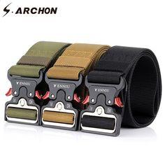 sale retailer 4f615 f8545 S.ARCHON Heavy Duty Quick Release Military Belt Miehet Survival SWAT Combat  Tactical Vyöt Mies