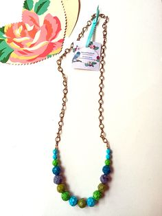 Fall chic necklace made with hand painted glass beads Enticing happy colors necklace, made with hand painted glass beads  Perfect as a gift for the holidays Link in my bio #necklaces #jewelrylover #accessories #Boho #blogger #bohochicjewelry #chic #romanticstyle #gift #holidaysgiftideas #handmadejewelry #fashionlover #fashionjewelry  #handmadejewelry #fashionblog  #necklaces #fashionblogger  #bohemianjewelry #styleinspiration #hippiechic #Eclectic #gold  #boho #bohochicjewelry