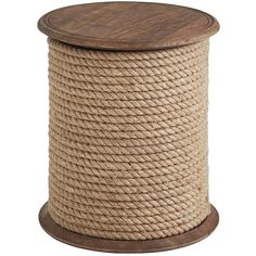 Pier 1 Imports Natural Rope Accent Table (1,475 CNY) ❤ liked on Polyvore featuring home, furniture, tables, accent tables, natural, handcrafted furniture, handmade tables, pier 1 imports furniture, pier 1 imports and rope furniture