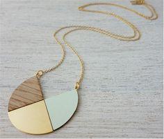 Shlomit Ofir - Formica and veneer necklace, inspired by Scandinavian design