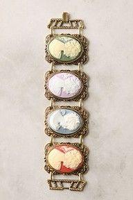 Colorful cameo bracelet